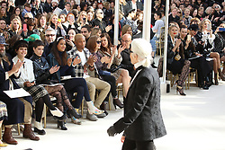 Karl Lagerfeld, Halsey, Pharrell Williams, Helen Lasichanh, Isabelle Huppert, Anna Mouglalis attending the Chanel show as part of the Paris Fashion Week Womenswear Fall/Winter 2016/2017 on March 8, 2016 in Paris, France. Photo by Alain gip-Gonzalez/ABACAPRESS.COM