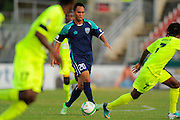 VSI Tampa Bay FC midfielder Shawn Chin (20) in action against Antigua Barracuda in a USL Pro soccer match at Plant City stadium in Plant City, Florida on June 7, 2013. VSI won 8-0.<br /> <br /> ©2013 Scott A. Miller