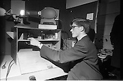 Young Scientists Exhibition.1969..01/01/1969.1st January 1969..The Aer Lingus Young Scientist Exhibition 1969 at the RDS..Luke O'Connor Drury explaining his award winning exhibit 'the construction and use of a spectrophometer to investigate complexion formation in a transition metal'.....