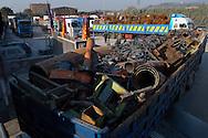 Terni, Italy 5 febbraio 2004: Portineria Prisciano delle acciaierie Acciai Speciali Terni, camion in attesa di entrare.