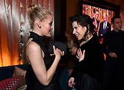 Leslie Bibb, left, and Sally Hawkins attend FOX 2018 Golden Globes After Party at The Beverly Hilton on Sunday, January 7, 2018, in Beverly Hills, Calif. (Photo by Jordan Strauss/JanuaryImages/Invision/AP)