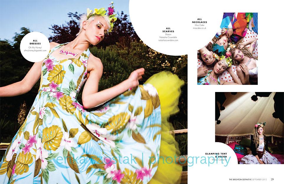 Photography: Erika Szostak<br /> Production: Louise O'Mahony &amp; Rebekah Joy Shirley<br /> Hair: Susan Bond<br /> MUA: Charlene Howells<br /> Model: Frankie Kent