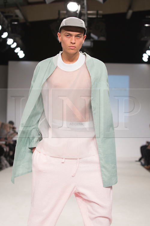 © Licensed to London News Pictures. 01/06/2015. London, UK. Collection by Hayley Young. Fashion show of Kingston University at Graduate Fashion Week 2015. Graduate Fashion Week takes place from 30 May to 2 June 2015 at the Old Truman Brewery, Brick Lane. Photo credit : Bettina Strenske/LNP