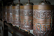 Prayer wheels are common in buddhist temples and cultures. These are the ones in Kodai-ji Temple.