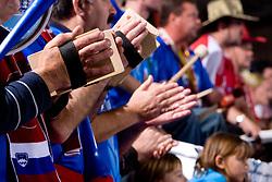 Krimovci, fans of Krim at handball match of Round 3 of Champions League between RK Krim Mercator and Hypo Niederosterreich, on November 8, 2009, in Arena Kodeljevo, Ljubljana, Slovenia.  Krim won 35:24. (Photo by Vid Ponikvar / Sportida)
