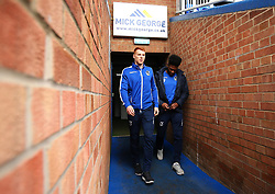 Rory Gaffney and Ellis Harrison of Bristol Rovers arrive at The ABAX Stadium, for the Sky Bet League One fixture against Peterborough United - Mandatory by-line: Robbie Stephenson/JMP - 24/03/2018 - FOOTBALL - ABAX Stadium - Peterborough, England - Peterborough United v Bristol Rovers - Sky Bet League One