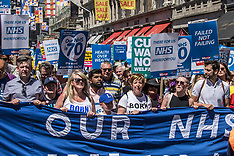 30 Jun 2018 - Thousands march in National rally to support the NHS, now in its 70th year.