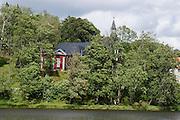 Unterer Teich (See), Kirche, Stiege, Oberes Selketal, Harz, Sachsen-Anhalt, Deutschland | Lake Uneterer Teich, church, Stiege, Upper Selke Valley, Harz, Saxony-Anhalt, Germany