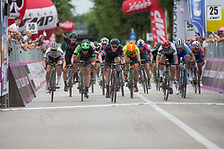 Hannah Barnes (GBR) of CANYON//SRAM Racing wins Stage 3 of the Giro Rosa - a 100 km road race, between San Fior and San Vendemiano on July 2, 2017, in Treviso, Italy. (Photo by Balint Hamvas/Velofocus.com)