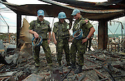 Danish UN camp in Dwor after the Croatian operation Storm. .Photo:Thomas Sjørup ©