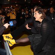 Premiere Kill Bill, Jeroen post en Kris Bozilovic met gele schoenen