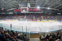 KELOWNA, CANADA - APRIL 7: The Kelowna Rockets and Portland Winterhawks take a time out on April 7, 2017 at Prospera Place in Kelowna, British Columbia, Canada.  (Photo by Marissa Baecker/Shoot the Breeze)  *** Local Caption ***