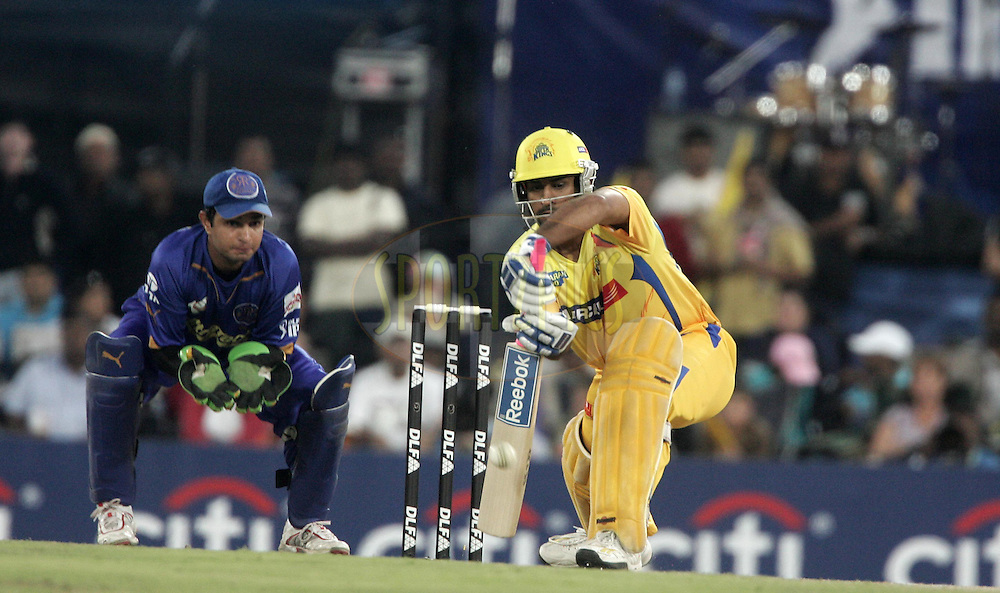 CENTURION, SOUTH AFRICA - 30 April 2009.  during the  IPL Season 2 match between the Rajasthan Royals and the Chennai Superkings held at  in Centurion, South Africa. MS Dhoni and Mahesh Rawat.