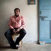 Vinney Vani from Growing Opportunities Pvt. Ltd. at Devo Baghel's home in Raipur, Chhatisgarh.