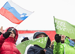 Supporters during 2nd Run of 10th Men's Giant Slalom race of FIS Alpine Ski World Cup 55th Vitranc Cup 2016, on March 5, 2016 in Kranjska Gora, Slovenia. Photo by Vid Ponikvar / Sportida