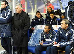 20.11.2010, St Andrews stadium, Birmingham, ENG, PL, Birmingham City vs FC Chelsea, im Bild Chelsea's manager Carlo Ancellotti and his  new first team coach Micael Emenalo  Birmingham City vs Chelsea  for the  Barclays Premier League  at St Andrews stadium in Birmingham on 20/11/2010. EXPA Pictures © 2010, PhotoCredit: EXPA/ IPS/ Rob Noyes +++++ ATTENTION - OUT OF ENGLAND/UK +++++