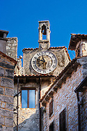 Church tower with clock, Bale, Croatia