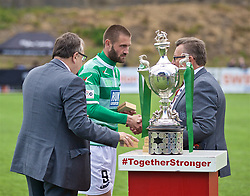 RHOSYMEDRE, WALES - Sunday, May 5, 2019: The New Saints' Greg Draper is presented with his winners' medal during the FAW JD Welsh Cup Final between Connah's Quay Nomads FC and The New Saints FC at The Rock. (Pic by David Rawcliffe/Propaganda)