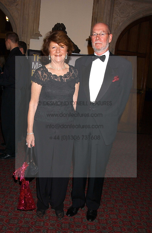 The Irish Ambassador HE RT HON.DAITHI O'CEALLAIGH and his wife ANTOINETTE O'CEALLAIGH at a dinner to announce the 2005 Man Booker Prize held at The Guilhall, City of London on 10th October 2005.<br />