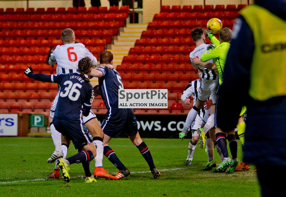 Dunfermline Athletic v Ross County Scottish Cup Season 2015/16 East End Park 09 December 2015<br /> Brad McKay heads in to make it 2-2<br /> CRAIG BROWN | sportPix.org.uk