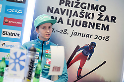 Katja Pozun during press conference before FIS Ski World Cup Ladies competition in Ljubno 2018 on January 24, 2018 in BTC, Ljubljana, Slovenia. Photo by Urban Urbanc / Sportida