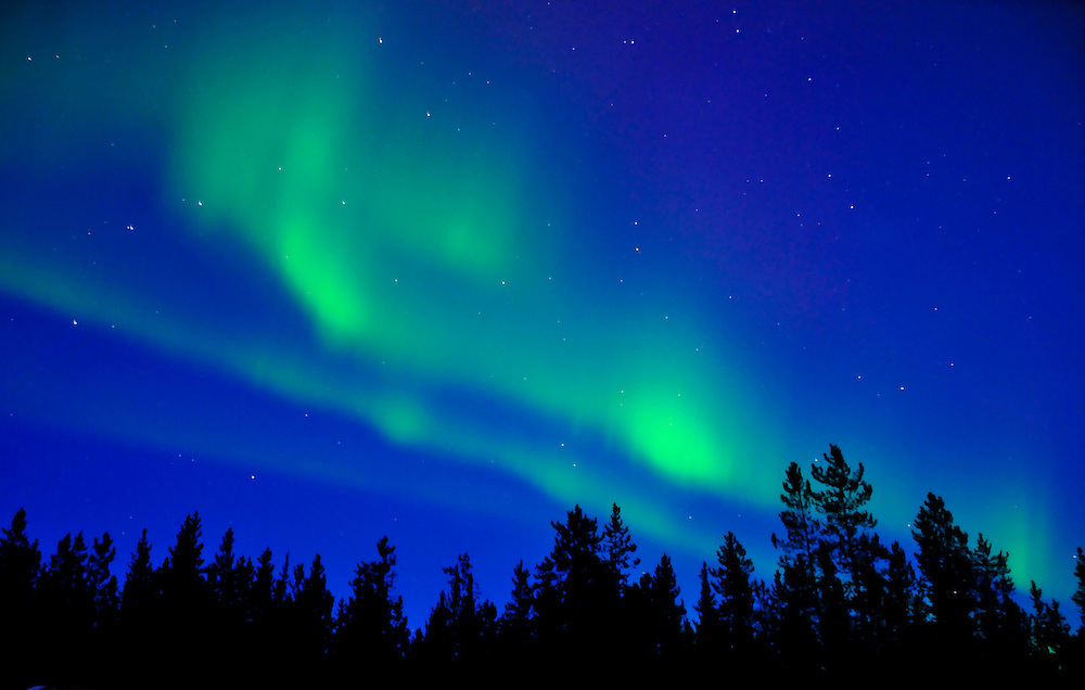The Northern Lights just after sunset.