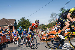Leading group with NIBALI Vincenzo of Bahrain Merida Pro Cycling Team during 2nd lap on Mur de Huy at the 2018 La Flèche Wallonne race, Huy, Belgium, 18 April 2018, Photo by Thomas van Bracht / PelotonPhotos.com | All photos usage must carry mandatory copyright credit (Peloton Photos | Thomas van Bracht)