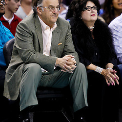 December 17, 2010; New Orleans, LA, USA; New Orleans Hornets minority owner Gary Chouest watches courtside during the first half of a game against the Utah Jazz at the New Orleans Arena.  Mandatory Credit: Derick E. Hingle
