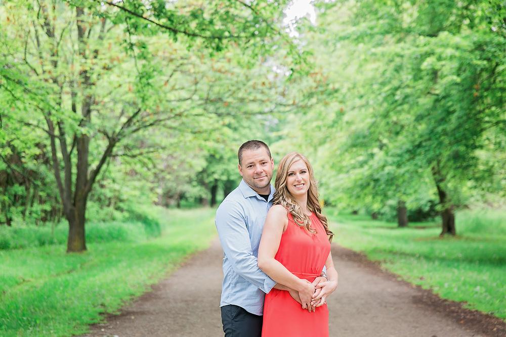 Melissa & Sean Guelph Arboretum Engagement Photos