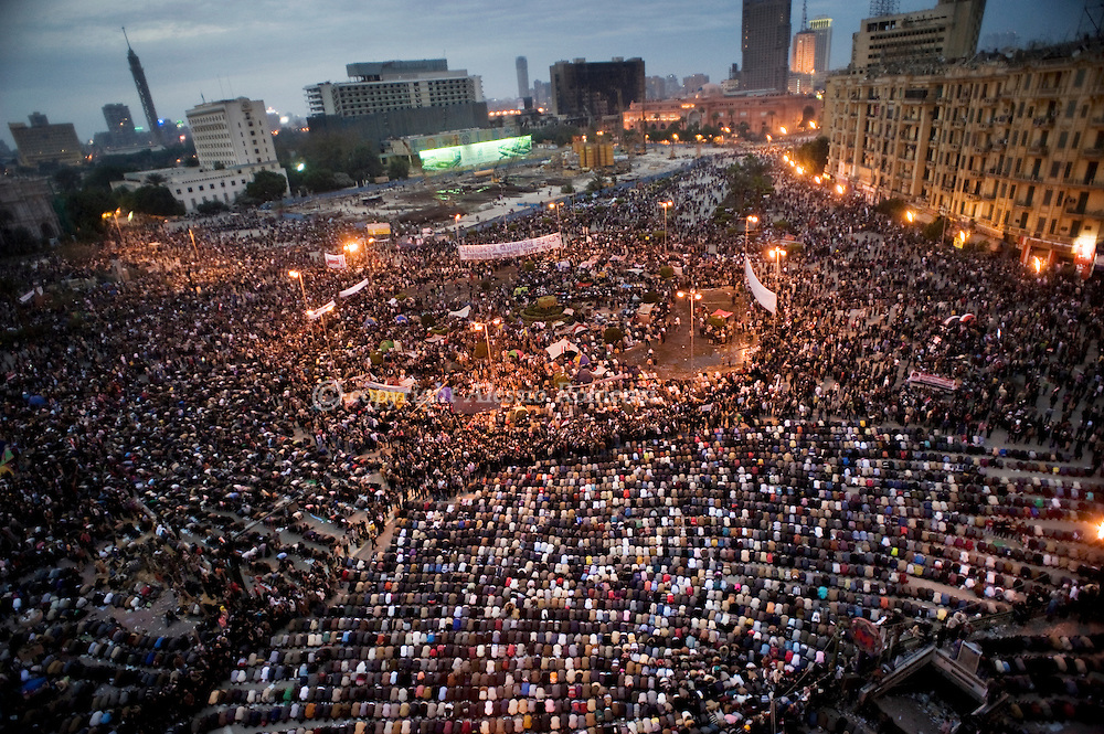 General view of Tahrir square in Cairo on February 04, 2010.© ALESSIO ROMENZI