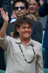 LONDON, ENGLAND - Saturday, June 26, 2010: Evonne Goolagong-Cawley in the Royal Box on Centre Court on day six of the Wimbledon Lawn Tennis Championships at the All England Lawn Tennis and Croquet Club. (Pic by David Rawcliffe/Propaganda)