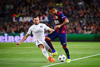 Yohan CABAYE / NEYMAR JR - 21.04.2015 - Barcelone / Paris Saint Germain - 1/4Finale Retour Champions League<br />