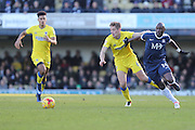 AFC Wimbledon defender Paul Robinson (6) and Southend United striker Marc-Antoine Fortune (14) in action during the EFL Sky Bet League 1 match between Southend United and AFC Wimbledon at Roots Hall, Southend, England on 26 December 2016. Photo by Stuart Butcher.