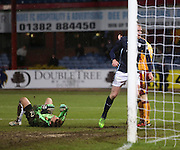 repair for Dan Twardzik after defender Mark O'Brien had knocked the ball past him for Dundee's fourth goal -  Dundee v Motherwell, SPFL Premiership at Dens Park <br /> <br /> <br />  - &copy; David Young - www.davidyoungphoto.co.uk - email: davidyoungphoto@gmail.com