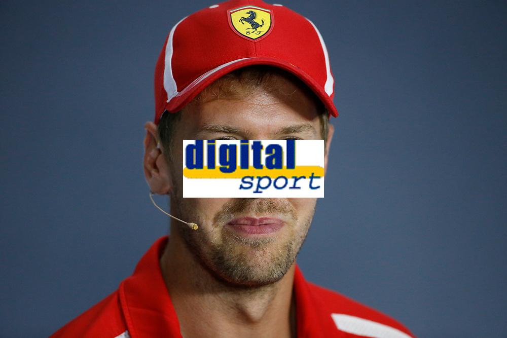 Sebastian Vettel Scuderia Ferrari<br /> Monza 30-08-2018 GP Italia <br /> Formula 1 Championship 2018 <br /> Foto Federico Basile / Insidefoto