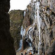 Freyr Ingi Björnsson, VIktor Þór Jörgessonog Viðar helgasson at Þórólfsárgili, Fljótshlíð.