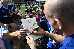 May 13, 2018 - Dublin, Ireland - Leinster's Devin Toner signs autographs to fans during the homecoming ceremony at Energia Park, Donnybrook, following their victory in the European Champions Cup Final in Bilbao, Spain..On Sunday, May 13, 2018, in Donnybrook, Dublin, Ireland. (Credit Image: © Artur Widak/NurPhoto via ZUMA Press)
