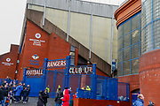 Broomloan Stand from the road ahead of the Ladbrokes Scottish Premiership match between Rangers and Kilmarnock at Ibrox, Glasgow, Scotland on 16 March 2019.