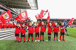Flag bearers prior to kick off - Mandatory by-line: Ryan Hiscott/JMP - 07/10/2018 - FOOTBALL - Ashton Gate Stadium - Bristol, England - Bristol City v Sheffield Wednesday - Sky Bet Championship