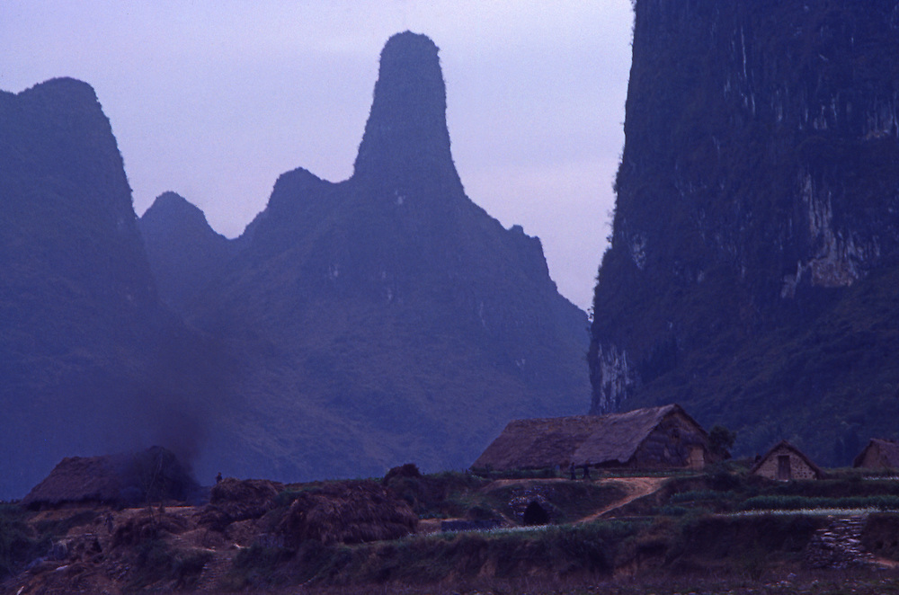 Farming countryside along the Li River near Guilin, China