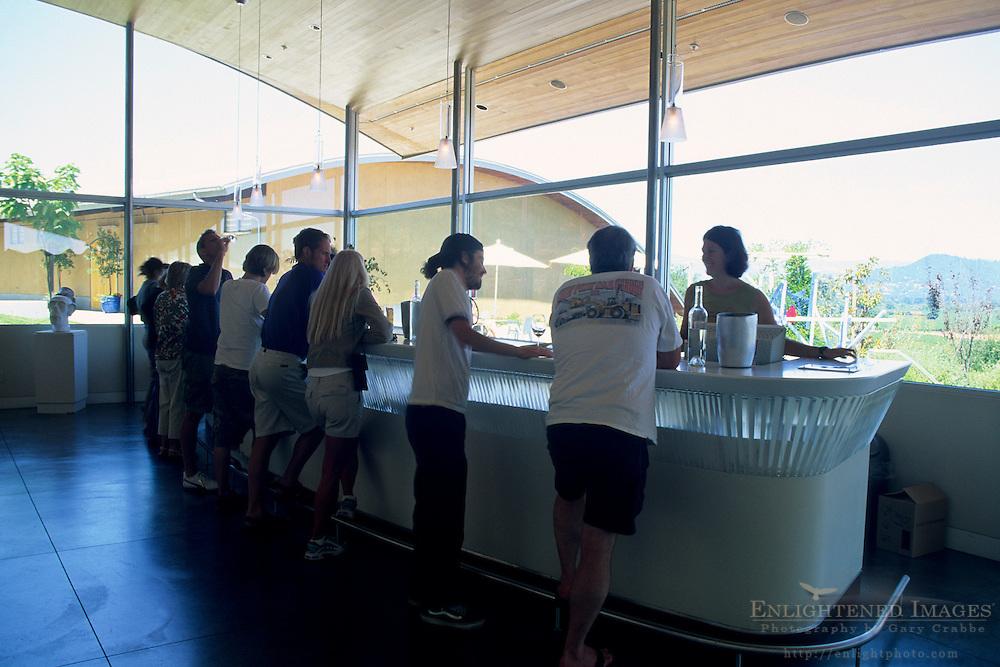 Tasting room at Roshambo Winery Westside Road, Healdsburg, Sonoma County, California