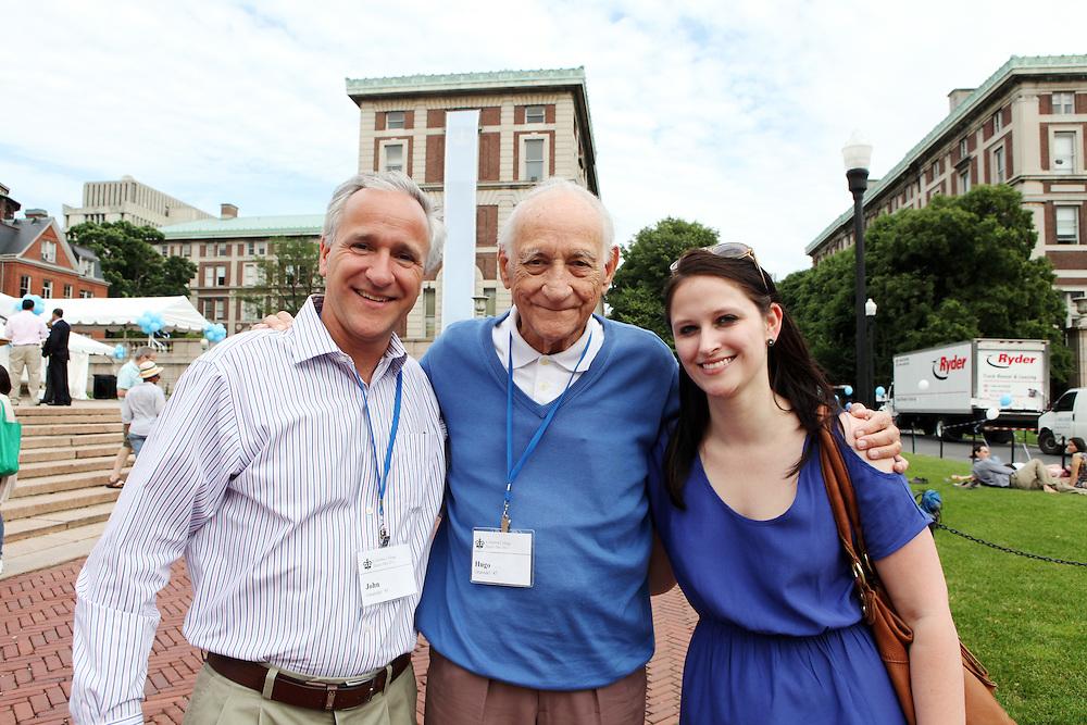 John Gruendel '83 (left).Hugo Gruendel '47 (center, father of John).Catherine Kaelin '10 (John's neice, Hugo's granddaughter) ..