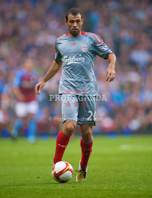 BIRMINGHAM, ENGLAND - Sunday, August 31, 2008: Liverpool's Javier Mascherano in action against Aston Villa during the Premiership match at Villa Park. (Photo by David Rawcliffe/Propaganda)