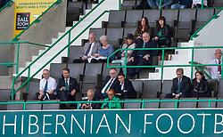 Hibs director's box. Hibernian 2 v 0 Alloa Athletic, Betfred Cup game played Saturday 20th July at Easter Road, Edinburgh.