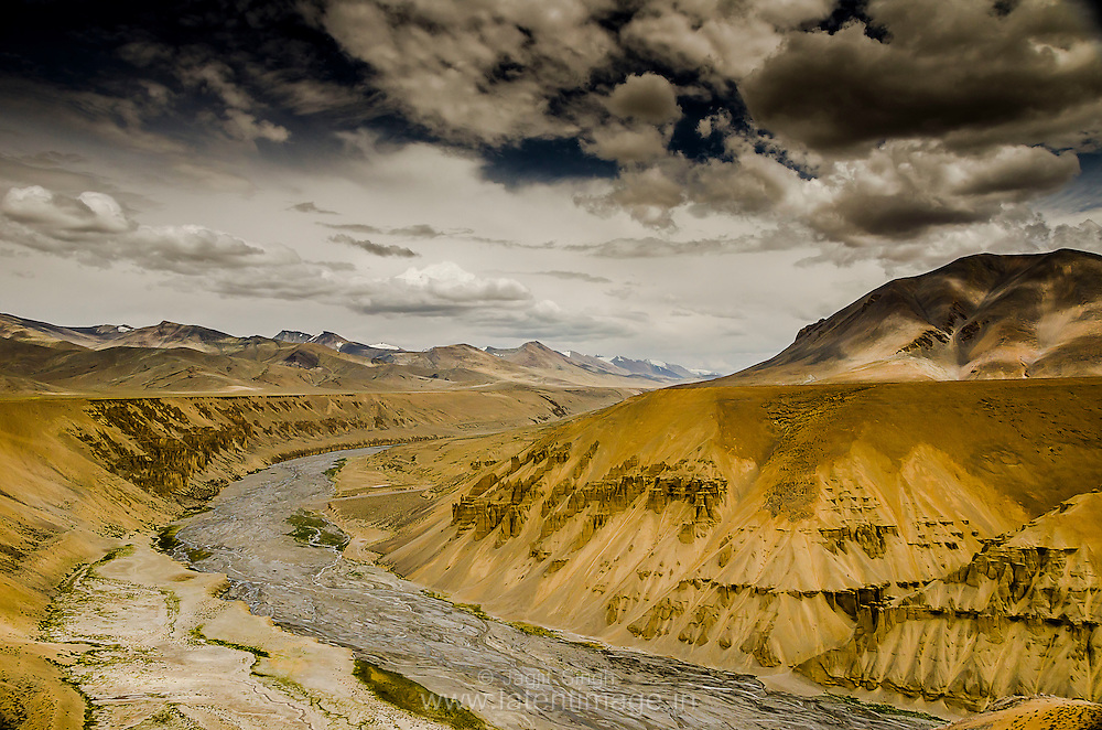 Natural Rock and Sand Formations along the Sumkhel Lungpa River. Landscapes by Jagjit Singh