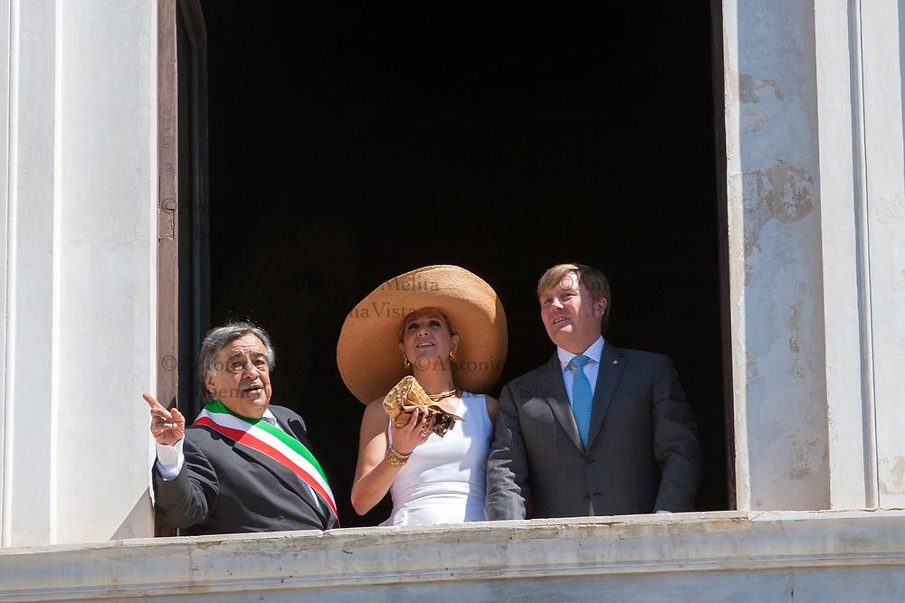 I Reali dei Paesi Bassi, Willem Alexander e Máxima, in visita ufficiale a Palermo.