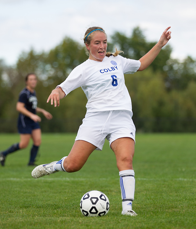 Abby Hatch, of Colby College, in an NCAA Division III college soccer game against Middlebury College at Colby College, Thursday Sept. 15, 2012 in Waterville, ME. (Dustin Satloff/Colby College Athletics)