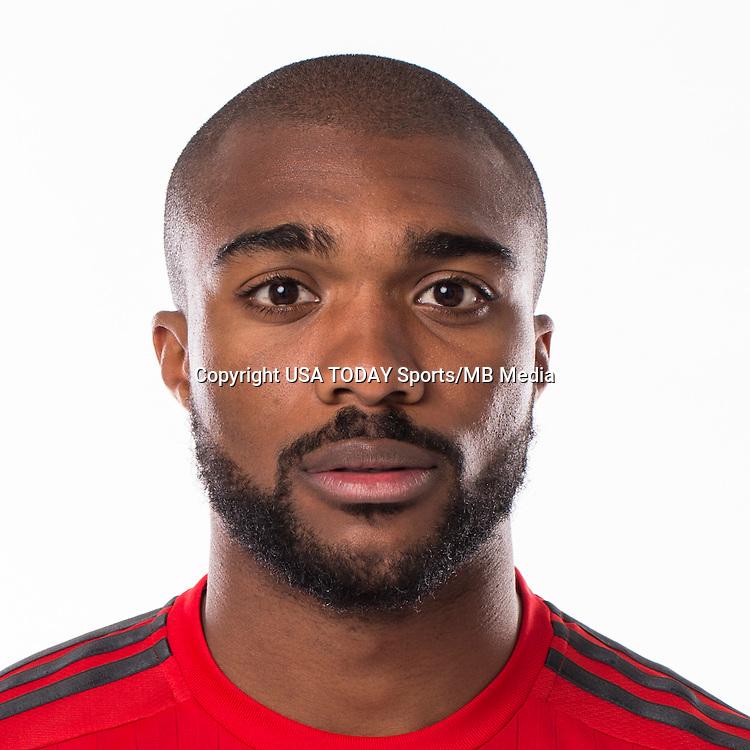 Feb 25, 2016; USA; Toronto FC player Ashtone Morgan poses for a photo. Mandatory Credit: USA TODAY Sports