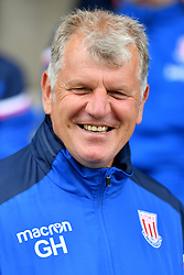 Stoke City's under 23's manager Glyn Hodges during the pre-season match at Gresty Road, Crewe.