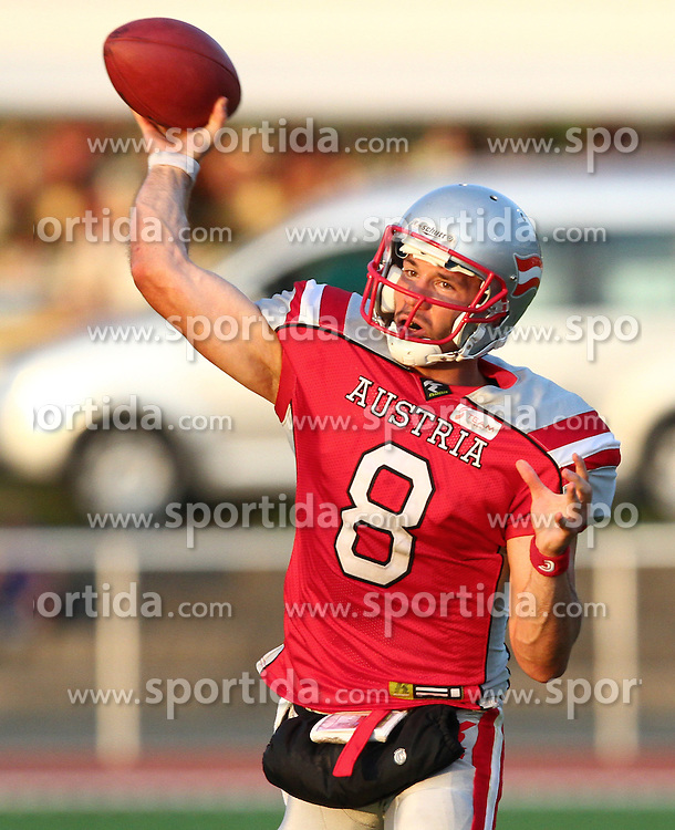 27.07.2010, Wetzlar Stadion, Wetzlar, GER, Football EM 2010, Team Austria vs Team Finland, im Bild Pass von Christoph Gross, (Team Austria, QB, #8) ,  EXPA Pictures © 2010, PhotoCredit: EXPA/ T. Haumer / SPORTIDA PHOTO AGENCY